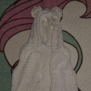 Girls Fuzzy Vest